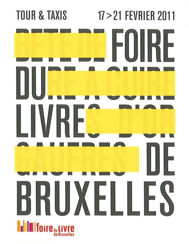 Logo Foire du Livre de Bruxelles 2011